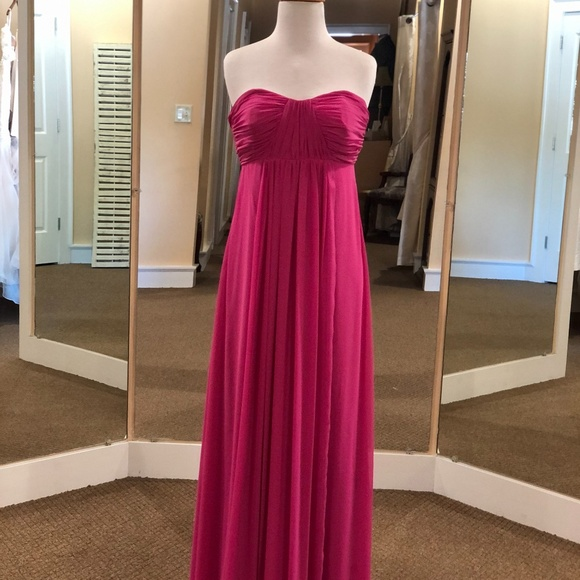 Dessy Collection Dresses & Skirts - Fuchsia Strapless Gown
